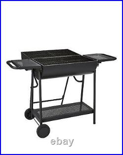 Large Oil Drum Charcoal BBQ Outdoor Garden Cooking Double Grill With Stand