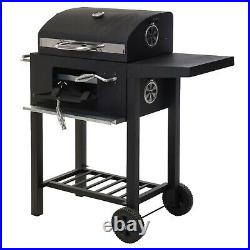 Large Outdoor Deluxe Garden Trolley Charcoal BBQ Grill Portable Wheels Barbecue
