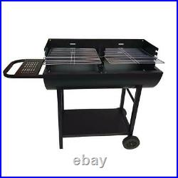 Large Rectangular BBQ Barbecue Steel Charcoal Grill Outdoor Patio Garden Party