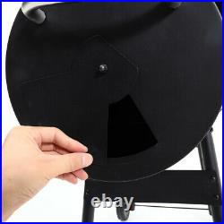 Large Smoker Charcoal BBQ Barbecue Grill Smoking Barrel Trolley Garden Outdoor