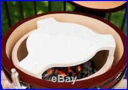 Louisiana Grills 24 (60 cm) Ceramic Kamado Charcoal Barbecue Assortment Red