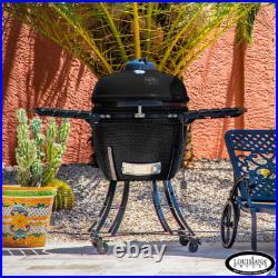 Louisiana Grills 24 (60cm) Kamado Grill Ceramic Charcoal BBQ Barbecue, Black