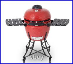 Louisiana Grills 24 Ceramic Kamado Charcoal Barbecue in Red + Cover BBQ Grill
