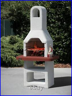 Masonry Barbecue Barbeque Bbq Grill Garden Patio Please Read Description