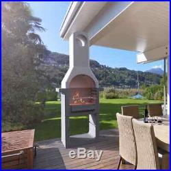 Masonry Charcoal BBQ Garden Outdoor Cooking Smoker Grill Barbecue Garden Patio