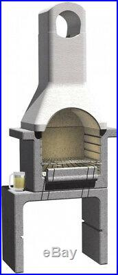 Masonry Stone BBQ Grill Outdoor Concrete Chimnney Charcoal Barbecue Pizza Oven