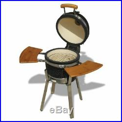 New Kamado Barbecue Grill Smoker Ceramic 76 cm Cooking Stand A Thermometer