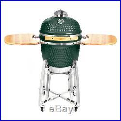 Nova Garden Furniture Green Big Kamado Ceramic Egg BBQ 21 Inch Barbecue Grill