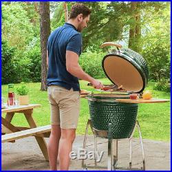 Nova Garden Furniture Green Big Kamado Ceramic Egg BBQ 23.5 Inch Barbecue Grill