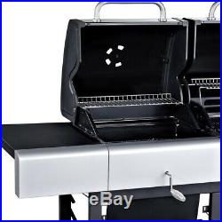 OUTBACK Combi Duel Fuel Hooded 4 Burner Gas and Charcoal BBQ Grill
