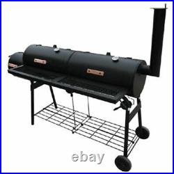 Outdoor Barbecue BBQ Charcoal Smoker Portable Garden Grill Barrel Cooking Cooker