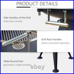 Outdoor Garden Patio Adjustable Barbecue Double Grill Charcoal BBQ Party Cooking