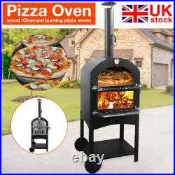 Outdoor Garden Pizza Oven Garden Chimney Charcoal BBQ Smoker Bread Peel Grill