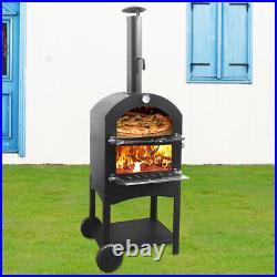 Outdoor Garden Pizza Oven Garden Chimney Charcoal BBQ Smoker Bread Peel Grill UK