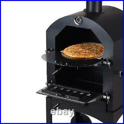 Outdoor Pizza Oven Garden Chimney Charcoal BBQ Smoker Bread Oven Portable Grill