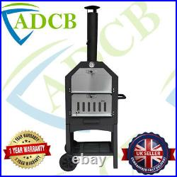 Outdoor Pizza Oven Portable Wood-Fired Charcoal BBQ grill Barbecue Garden Picnic
