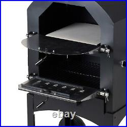 Outdoor Pizza Oven Wood Fire Garden Stone Coal Logs Charcoal BBQ Barbecue Grill