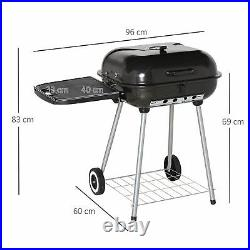 Outsunny Portable Charcoal Steel Grill BBQ Outdoor Picnic Camping Backyard with