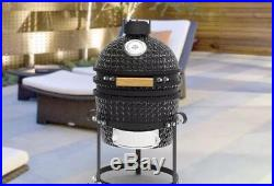 Pit Boss 13.5 Ceramic Barbeque Grill Outdoor BBQ Charcoal Cooking in Black