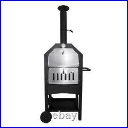 Pizza Oven / Grill Charcoal Wood Outdoor Garden Chimney BBQ Smoker Peel Cooker