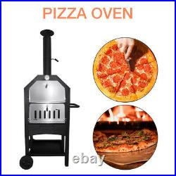 Pizza Oven / Grill Charcoal Wood Outdoor Garden Chimney BBQ Smoker Stone Baked