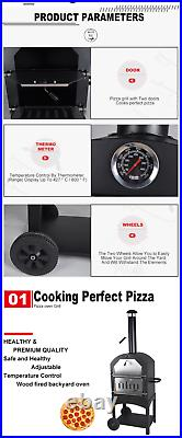 Pizza Oven Grill Smoker Bbq Charcoal Wood Stone Baked Pizza Garden