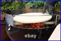 Pizzacraft Barbecue Bbq Deluxe Pizza Stone Kit for 18 and 22.5 Kettle Grills