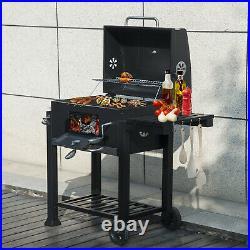 Portable BBQ Barbecue Grill Trolley Barbecue Patio Outdoor Garden Heating Smoker