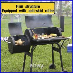 Portable BBQ Charcoal Grill with Wheel Party Outdoor Patio Garden Barbecue Large