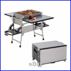 Portable Camping Kitchen Gas Burner Unit Outdoor Cooking Grill Barbecue Charcoal