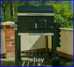 Portable Deluxe Barbecue BBQ Outdoor Charcoal Smoker Grill