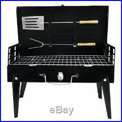 Portable Folding Charcoal Barbecue Grill Camping Outdoor Garden BBQ Utensil Tool