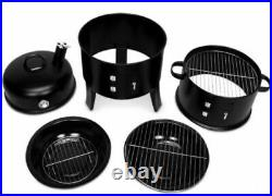 Professional Barbecue Smoker BBQ Charcoal Grill Garden Outdoor Cooking Steel Pot