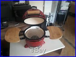 Red Devil Kamado Ceramic Bbq Oven 12 Like Green Egg Brand New Rrp £519