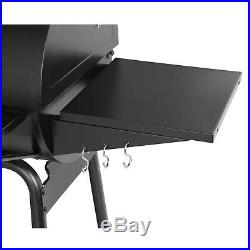Royal Gourmet 30 BBQ Charcoal Grill Smoker Backyard with Side Table CC1830S