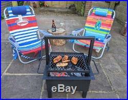 Santa Maria/ Argentine Style Grill Barbecue/ Portable/ Firebox/Tabletop