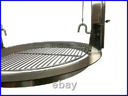 Stainless Round Santa Maria Kettle BBQ Rotisserie & Adjustable Cooking Grill