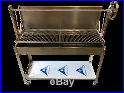Stainless Steel Charcoal Catering Commercial Bbq Grill & Adjustable Heights