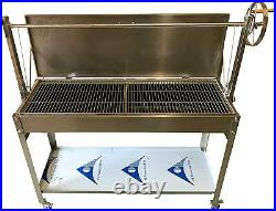 Stainless Steel Commercial Charcoal BBQ Argentinian Grill Heights EX DISPLAY