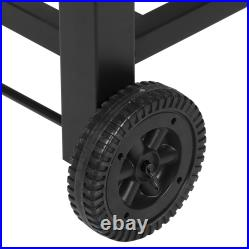 Steel BBQ Barbecue Charcoal Grill with Wheels Portable Outdoor Party Patio Garden