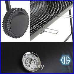 Tesco Large Charcoal Half Barrel BBQ Grill Barbecue Temp Gauge Thermometer Cover