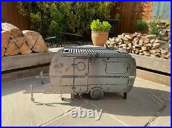 The Caravan Fire Pit Bbq Log Burner Grill Outdoor Seating Fire Show Display