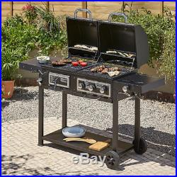 Uniflame Classic Gas and Charcoal BBq outdoor Grill Garden Barbecue patio new UK
