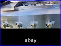 Unique 4 Burner Gas Charcoal BBQ Grill / Char grill Heavy Duty Commercial use
