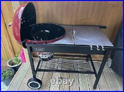 Weber Performer 57cm Red Kettle BBQ Grill SSP