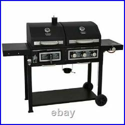 XXL Uniflame DUO Classic barbecue Gas grill Charcoal smoker heating Grill garde