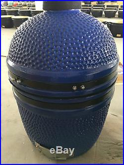 YNNI 15.7 inch Bespoke Cyan Kamado Oven BBQ Grill Egg with Stand TQ0015CY