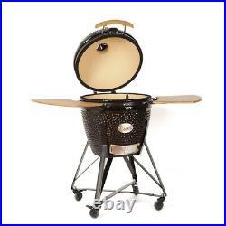 YNNI 25 Grey XL Chip Feeder Kamado Bundle BBQ Egg Grill Extras Trolley TQTT25GY