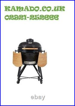 YNNI KAMADO 15.7 BLACK Oven BBQ Grill Egg with Stand TQ0015BL