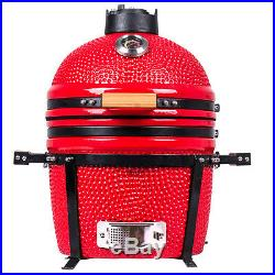 YNNI KAMADO 15.7 RED Oven BBQ Grill Egg with Stand TQ0015RE